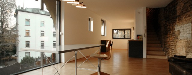 Interior of a beautiful PassivHaus in Frankfurt