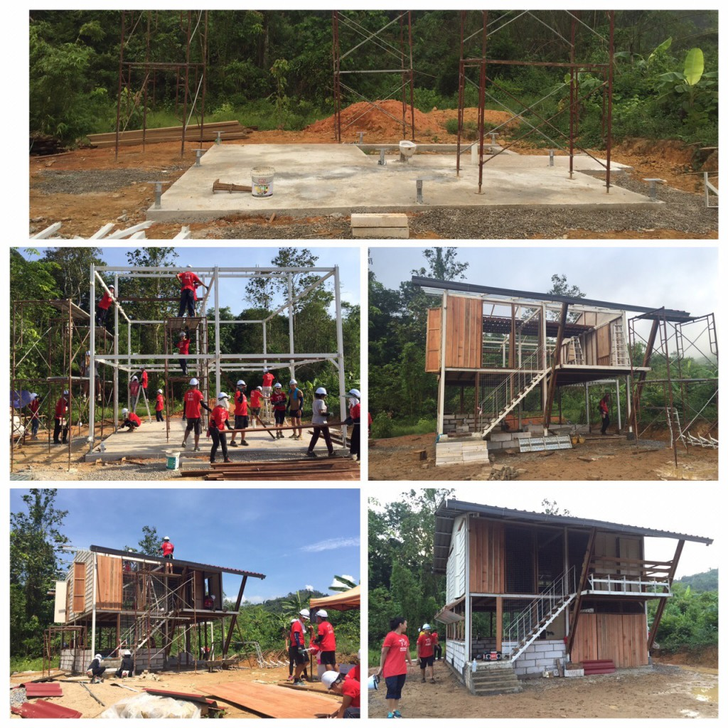 The two-storey jungle cabin built in three days montage