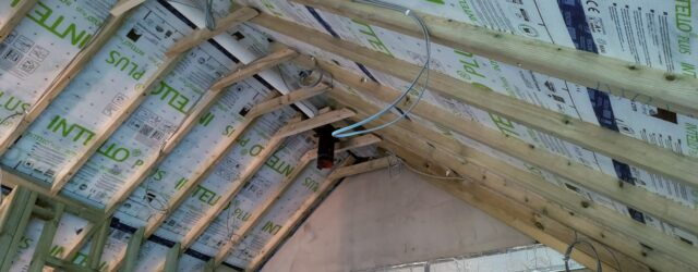 Intello membrane on a roof that HSL tested for airtightness forensic analysis