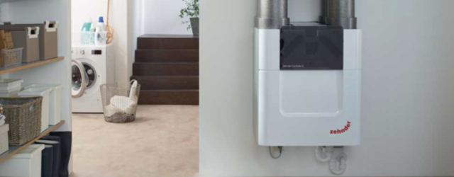Zehnder Comfoair MVHR installed in utility room