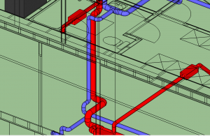 Good 3D MVHR design ductwork layout