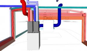 MVHR 3D Design ventilation strategy for a London Houseboat