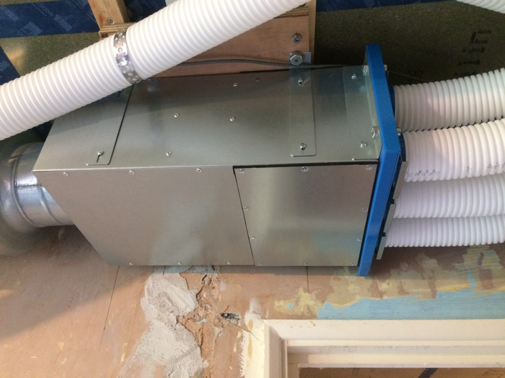 MVHR Manifold and radial system ducting