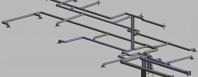 Poor MVHR detailed ductwork design 3D overview image