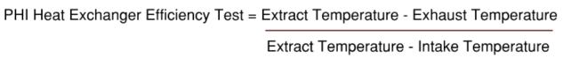 PHI MVHR Heat Exchanger Calculation