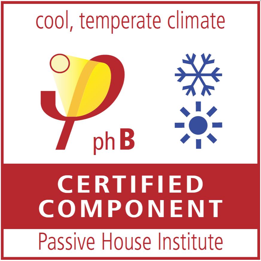 Passivhaus Certified Component Certificate 2021
