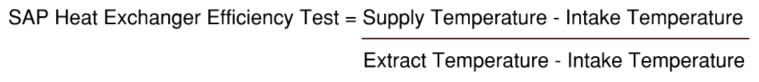 SAP MVHR Heat Exchanger Calculation